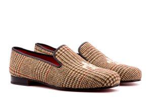Herren Slipper aus Tweed