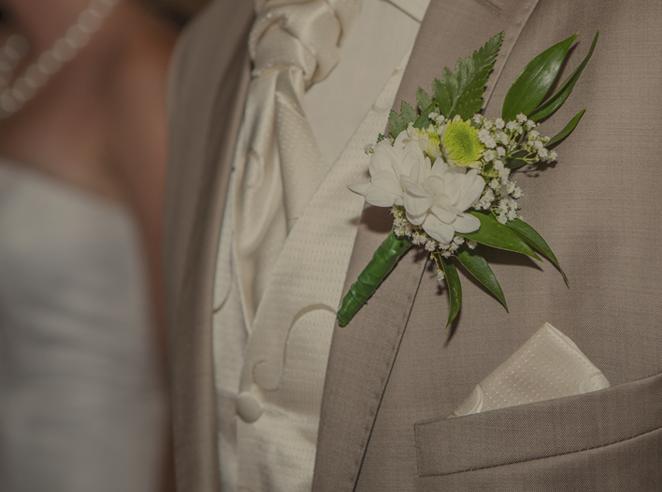 Hellgrau Hochzeitsanzug