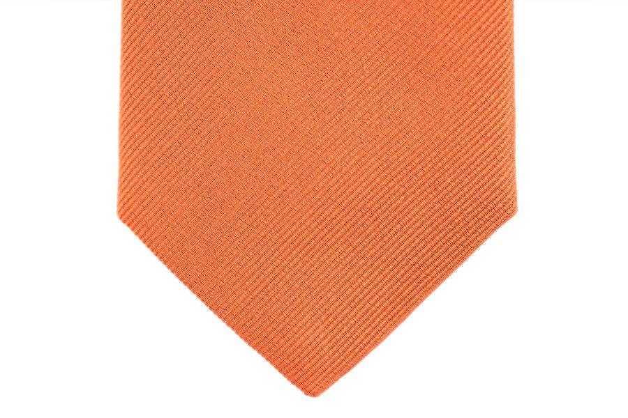 Seidenkrawatte orange