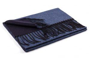 blauer Schal cashmere