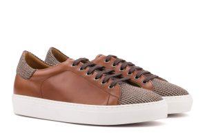 brauner Sneaker tweed