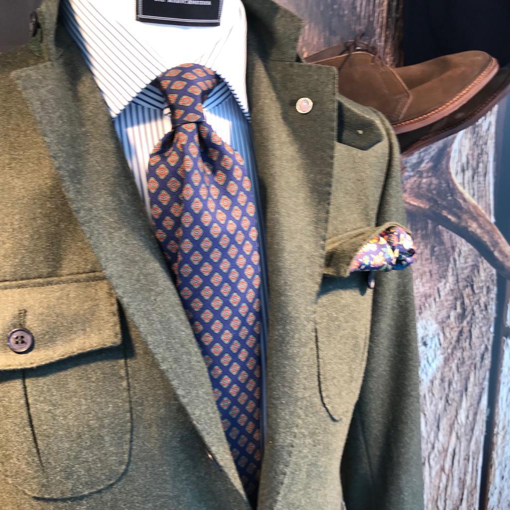 grünes Tweed Sakko