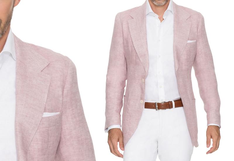 Zero Jackett aus Leinen in rose