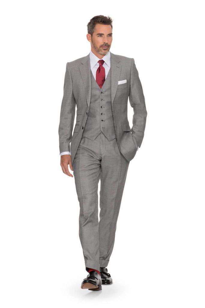 schwarz-weiß -glencheck anzug